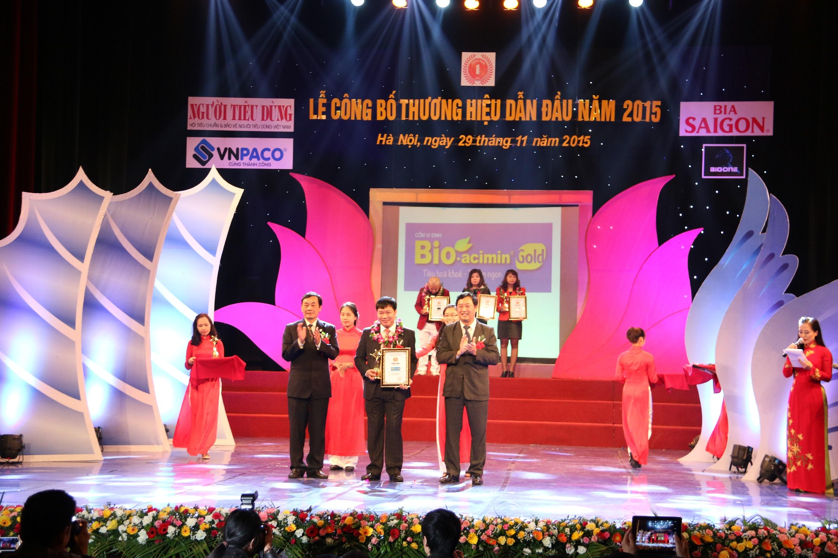 Bio-acimin Gold nam trong top 100 Thuong hieu dan dau