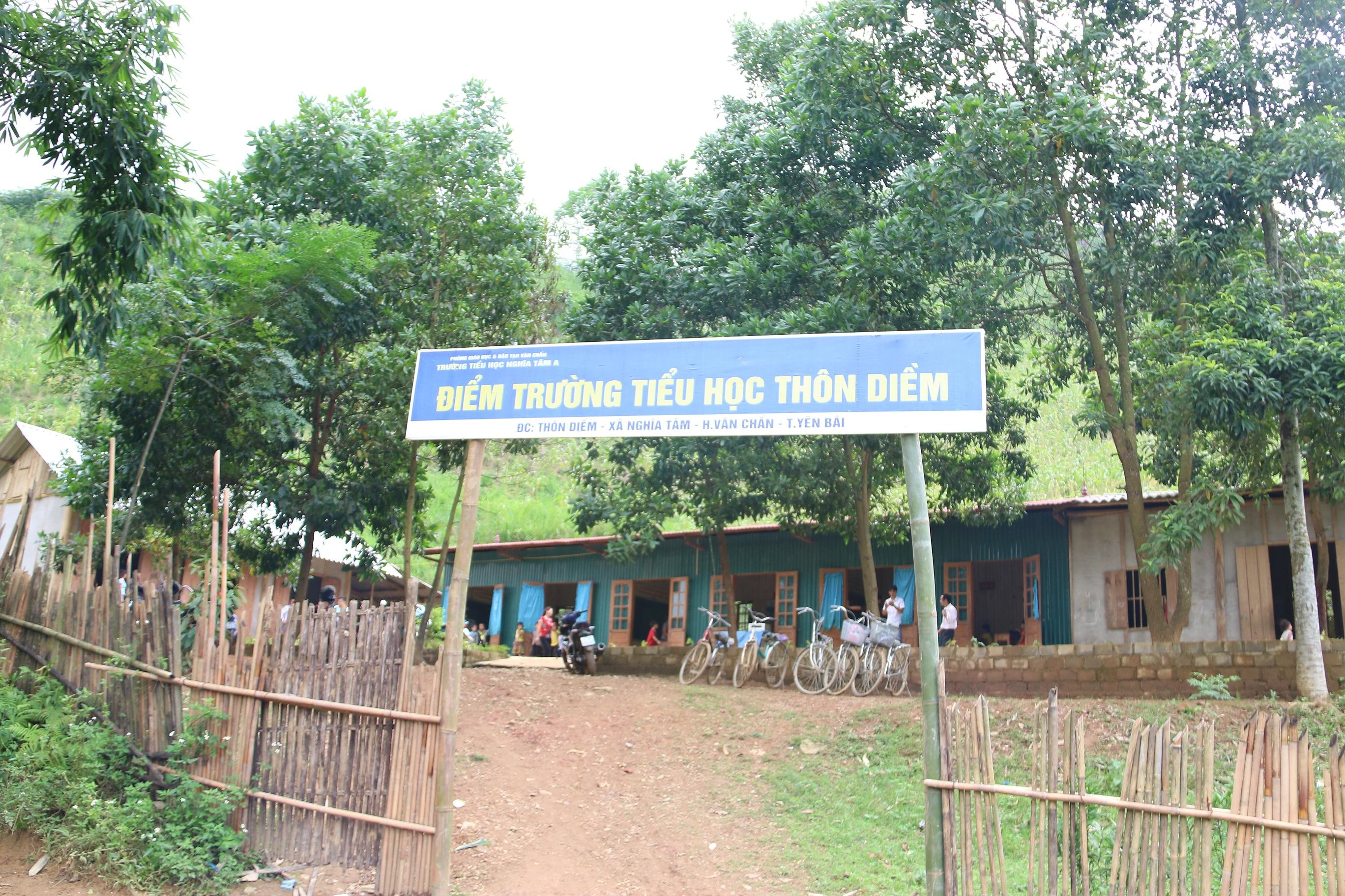 Điểm trường tiểu học thôn Diềm, xã Nghĩa Tâm, huyện Văn Chấn, tỉnh Yên Bái