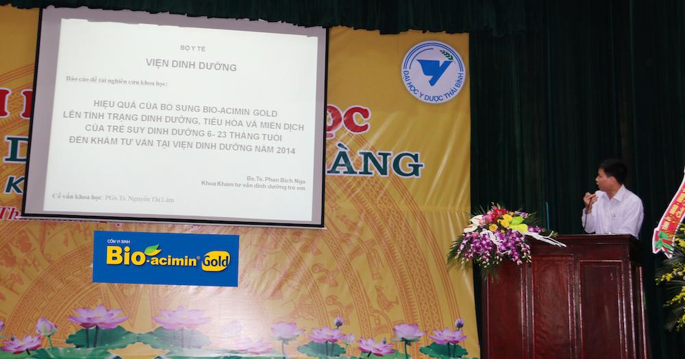 TS. Nguyễn Trọng Hưng – Đại diện cho nhóm nghiên cứu trình bày kết quả nghiên cứu lâm sàng
