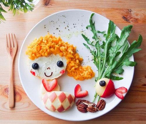 Kết quả hình ảnh cho làm món ăn hình thú vui cho trẻ